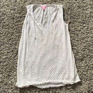 White Lily Pulitzer Cover Up